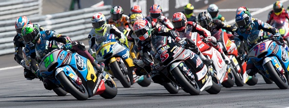 Morbidelli leads the way. | Image credit: Joe Klamar - AFP