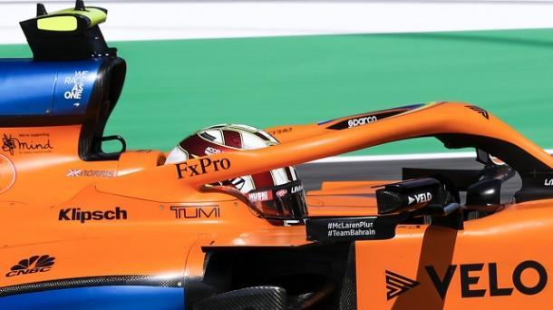 Lando Norris en los FP2. Fuente: McLaren