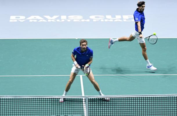 Francia, con Mahut y Hugues. Los 'galos' son campeones de la Copa Davis en 2017. Imagen: @DavisCupFinals.