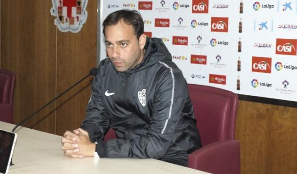 Fran Fernández en la rueda de prensa previa al partido | UD Almería