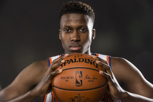 Ntilikina appears to be a key cog for the Knicks organization. Photo: Jeff Zelevansky/Getty Images North America