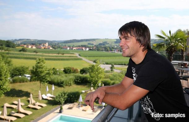 Filip Stojkovic takes in the scenery at 1860 Munich's training camp. | Image credit: sampics