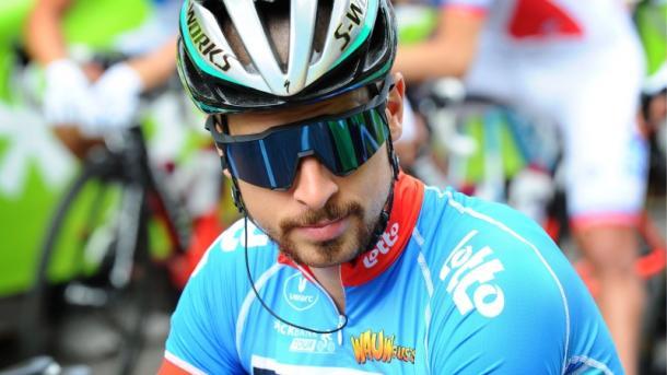 Sagan se tuvo que conformar con el maillot azul de los puntos.   Foto: BinckBank Tour