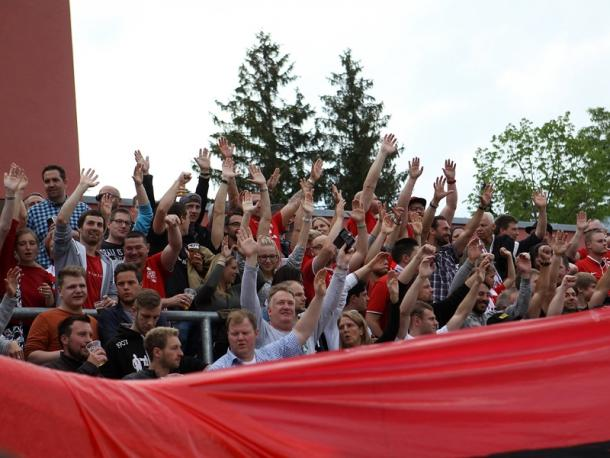Würzburg's fans were in full voice for the entire 90 minutes. | Image source: Imago