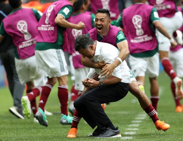 Marco Fabián y Juan Carlos Osorio (México) Rusia 2018   Foto: Getty