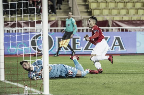 Falco, el autor del 1-0 en el estadio Luis II. Foto: AS Mónaco.