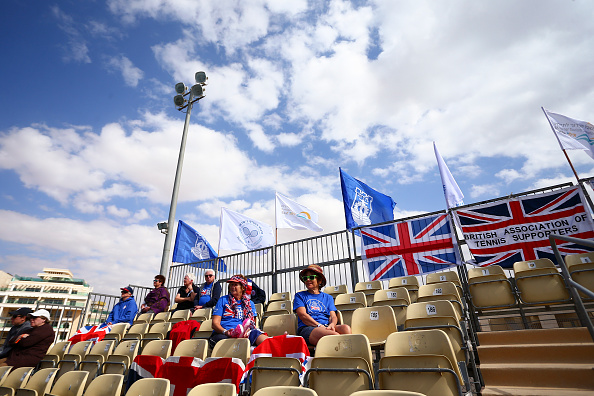 Only a handful of British fans watch the team play in Israel (Photo Courtesy: Getty Images Sport/Jordan Mansfield)