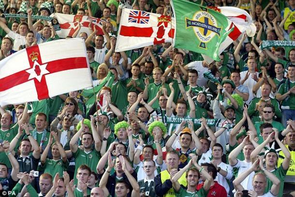 I tifosi dell'Irlanda del Nord, dailymail.co.uk