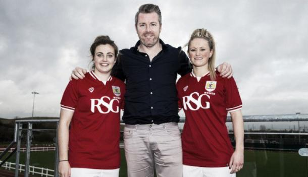 Ayane will join Farrow and Brett at Bristol. | Image source: Bristol City Women