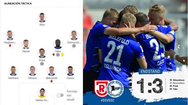 24/08/2019 Alineación titular (Bundesliga) / Foto: @Arminia