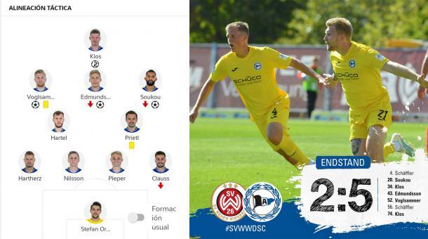 21/09/2019 Alineación titular (Bundesliga) / Foto: @Arminia