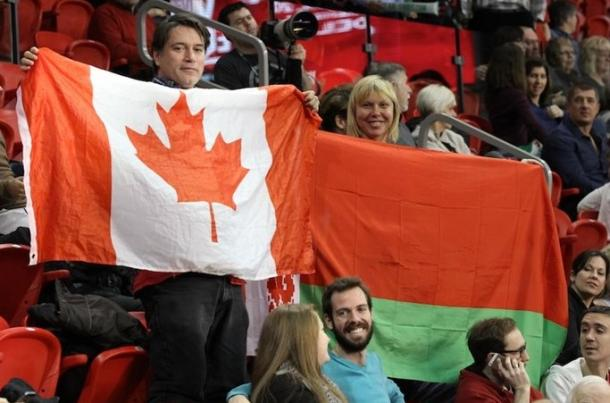 Both teams had their fanbases in Quebec City. Photo: Fed Cup