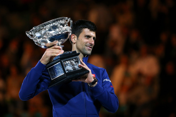 Novak Djokovic was the top player during the inter-Federer period, although he has slipped over the last 18 months. Photo: Michael Dodge/Getty Images