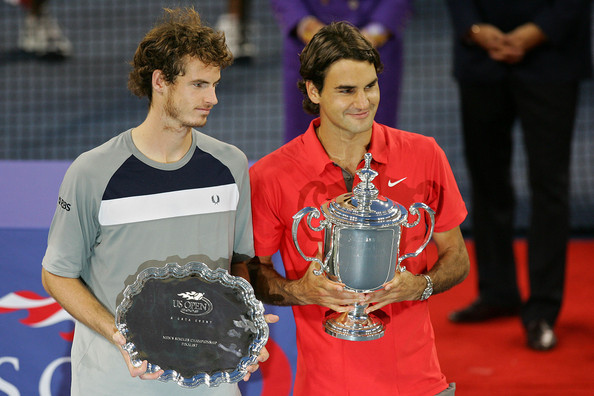 Federer (right) and Murray met in the 2008 US Open final. Photo: Jim McIsaac/Getty Images