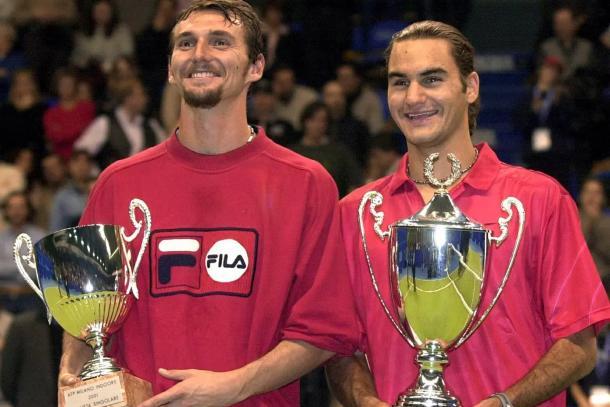 Titulo de Federer en Milan 2001 Foto: La Nacion