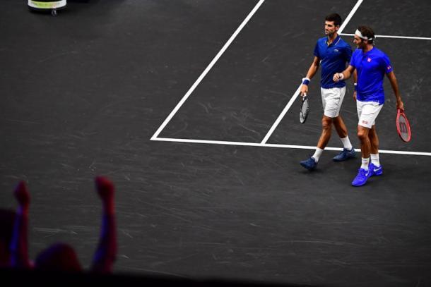 'Fedole' perdeu o primeiro jogo do 'Time Europa' na Laver Cup (Foto: Ben Solomon/Laver Cup)