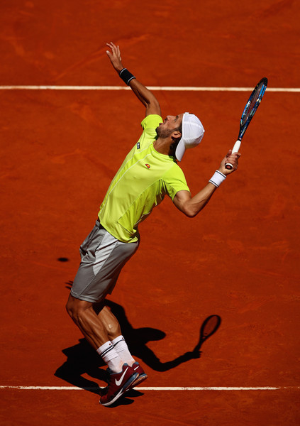 Feliciano Lopez in Mutua Madrid Open action. Photo: Clive Brunskill/Getty Images