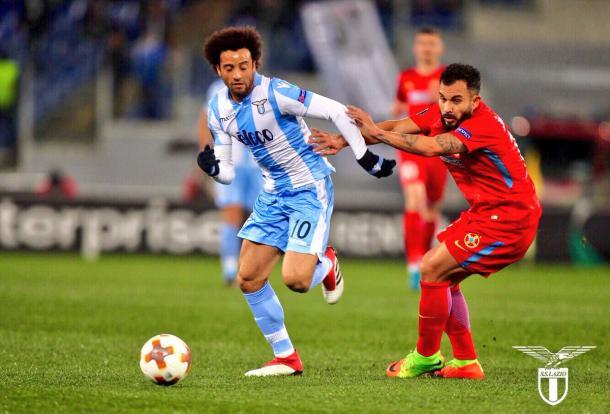 Felipe Anderson participou diretamente de três dos cinco gols da Lazio (Foto: Divulgação/SS Lazio)