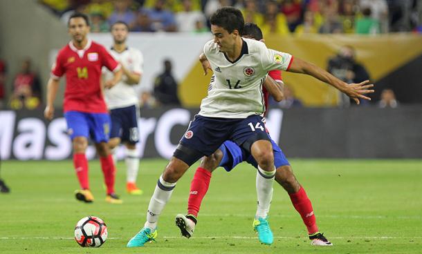 Felipe Aguiar sufrió mucho en su debut con la selección mayor. | Foto: Futbolete
