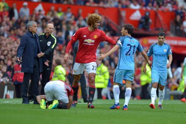 Fellaini felt the team wasn't agressive enough in the Manchester derby | Photo: Getty