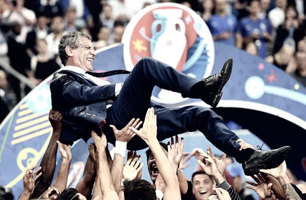 Fernando Santos na comemoração do título da Eurocopa (Fonte: Getty Images)