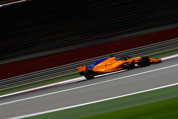 Alonso rodando hoy en el Circuito de Sakhir. Fuente: Getty Images