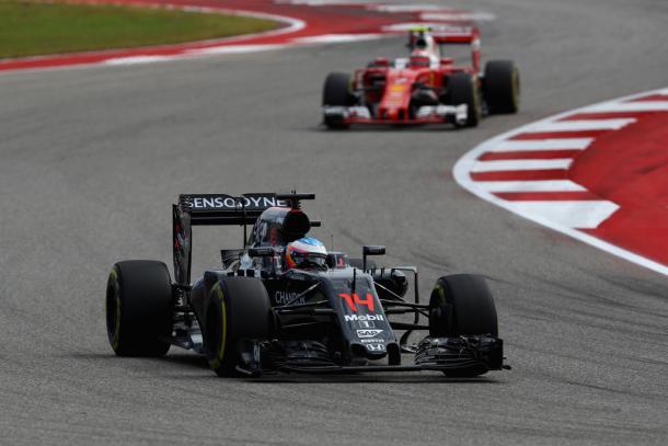 Fernando Alonso durante el GP de Estados Unidos   Fuente: Getty Images