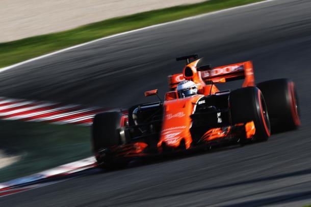 Fernando Alonso durante los test | Fuente: Getty Images