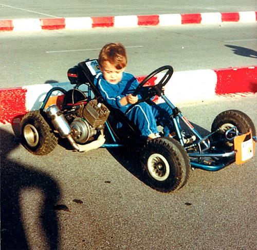 Primer kart de Alonso / Fuente: Twitter