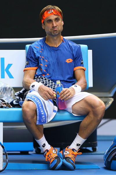 Ferrer looks frustrated during his Australian Open loss to Murray. Photo: Cameron Spencer/Getty Images