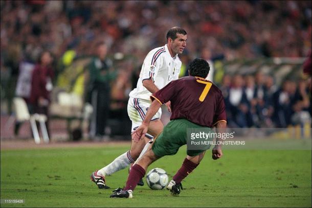 Figo y Zidane, Portugal y Francia, frente a frente
