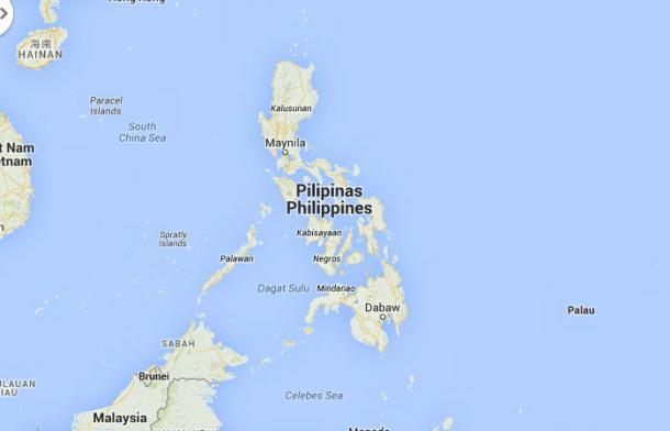Filipinas desde Google Maps   Fuente: Google Maps