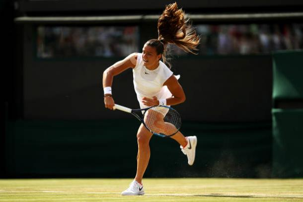 Maria Sakkari could do very little to challenge her opponent on Court One today (Getty/Julian Finney)