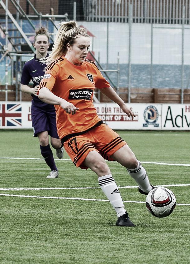 Glasgow City's Fiona Brown terrorised Hibernian in the league. Photo: John Williamson