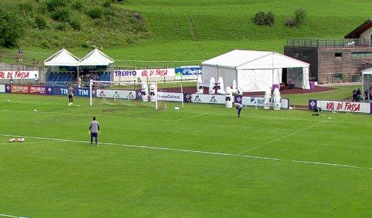 Il campo di allenamento della Fiorentina a Moena, twitter @acffiorentina