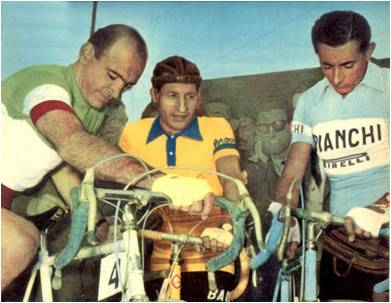 Magni, Bartali y Coppi, simbolos de la Italia de la posguerra | Fuente: bikeraceinfo.com
