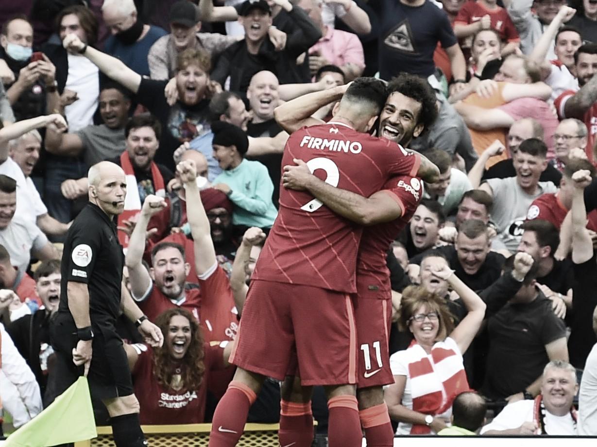 Firmino y Salah en el segundo gol. Foto: Liverpool.
