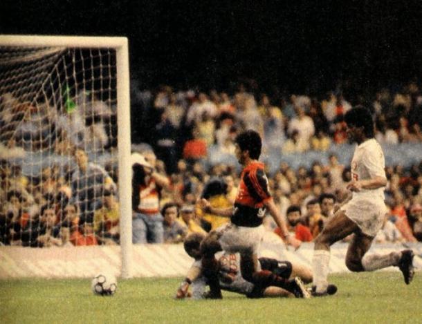 Gol de Bebeto garantiu título brasileiro ao Flamengo (Foto: Divulgação/Flamengo)