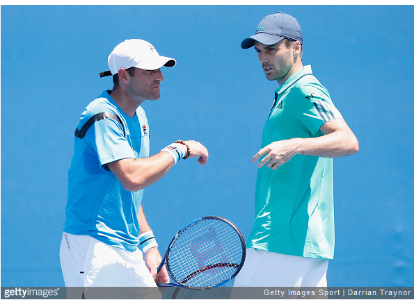 Jonathan Erlich, left, and Colin Fleming, right. (Source: Getty)
