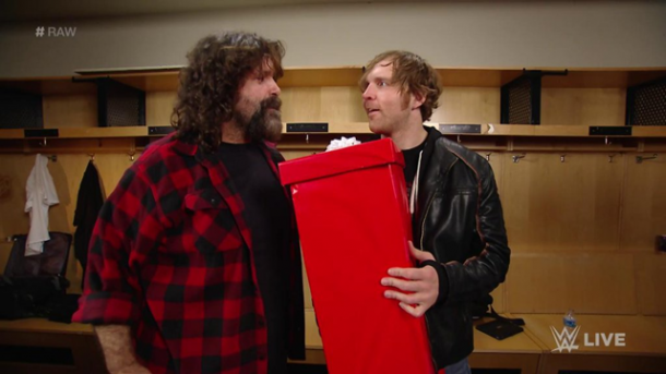 "Mick Foley give Dean Ambrose a ""gift"" a few weeks before Ambrose's match with Brock Lesnar at WrestleMania / 411mania"