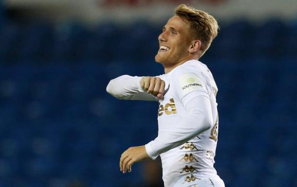 Samu Sáiz, con su nuevo equipo, el Leeds United | Foto: Football League World