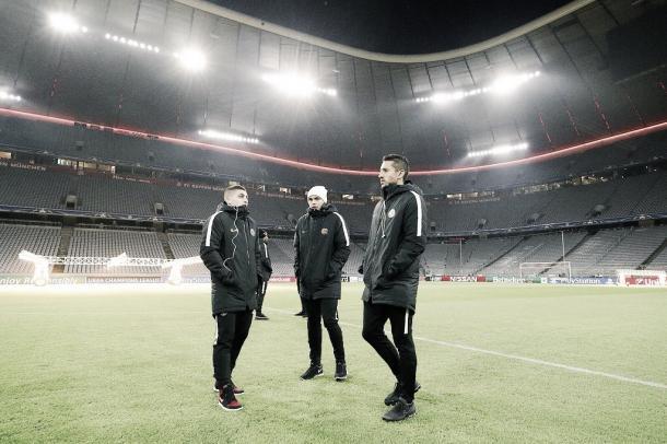 PSG entrenó en las frías tierras de Münich | Foto: PSG