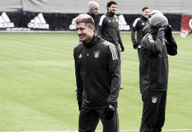 Robert Lewandowski es el hombre clave del Bayern Münich | Foto: Bayern Münich