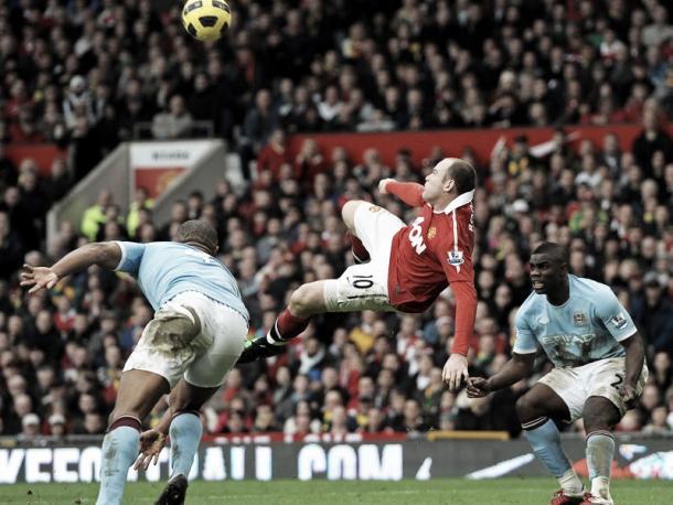 Un mítico gol de Wayne Rooney en un derbi   Foto: ManUtd