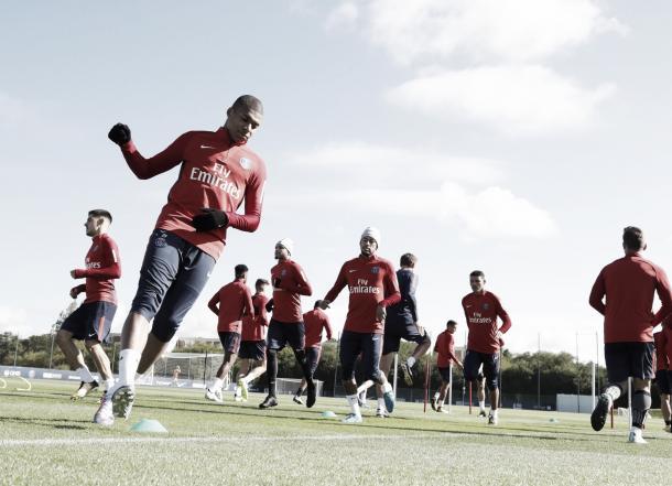 Unai Emery destacó el trabajo de su plantilla en mejorar partido a partido | Foto: PSG TW