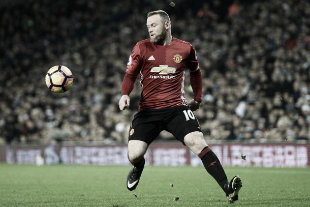 Wayne Rooney durante su última temporada en el United | Foto: @ManUtd