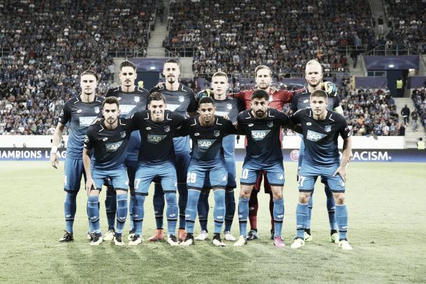 Alineación titular del debut en Champions   Foto: Página oficial TSG Hoffenheim