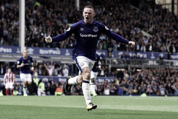 Wayne Rooney volvió al Everton con un gol | Foto: Everton TW
