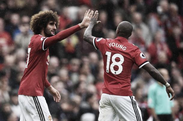 Marouane Fellaini anotó dos de los cuatro goles | Foto: @ManUtd