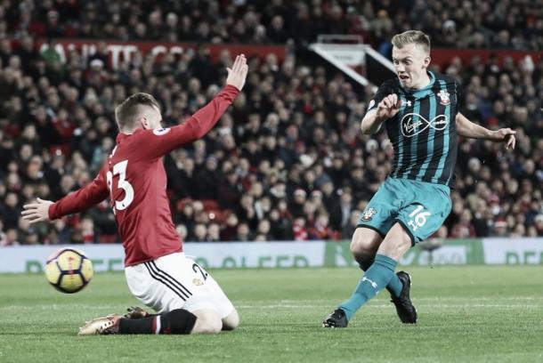 Manchester United no pudo superar a un débil Southampton   Foto: Premier League